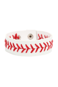 S4-5-1-AMYB1143 SPORTS BASEBALL LEATHER BRACELET/6PCS