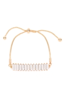 S27-8-3-MYB1378GWH-GLASS STONE FASHION BRACELET-WHITE/6PCS