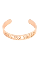 S29-2-2-MYB1410MGAMZ-AMAZING GRACE BANGLE BRACELET-MATTE GOLD/6PCS