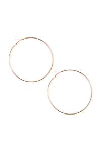 S6-4-3-AMYE1023GD GOLD HOOP EARRING/12PAIRS