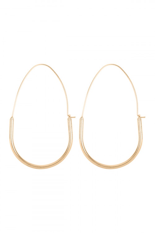 A2-1-3-AMYE1029G GOLD U BASE HOOP HINGE EARRINGS/6PAIRS