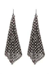 A1-1-3-AMYE1103HE HEMATITE FLOPPY CONE SQUARE SHAPE DROP EARRINGS/6PAIRS