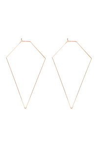 A2-3-3-AMYE1127G GOLD DIAMOND SHAPE WIRED EARRINGS/6PAIRS