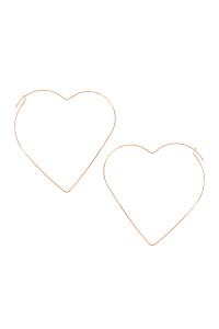 A3-1-2-AMYE1129G GOLD HEART SHAPE WIRED EARRINGS/6PAIRS