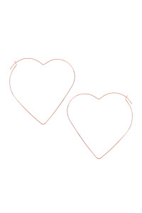 A3-1-2-AMYE1129RG ROSE GOLD HEART SHAPE WIRED EARRINGS/6PAIRS