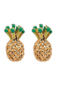 S7-5-2-AMYE1153 PINEAPPLE POST STUD EARRINGS/6PAIRS