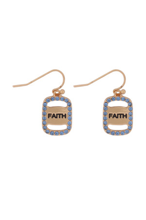 S21-11-3-MYE1263GBL-FAITH ETCHED DROP  EARRINGS-BLUE/6PCS