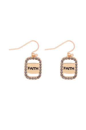 S21-11-3-MYE1263GH-FAITH ETCHED DROP  EARRINGS-HEMATITE/6PCS