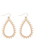 S22-11-3-MYE1269WG-SPIKY TEARDROP EARRINGS-GOLD/6PCS