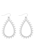 S22-11-3-MYE1269WS-SPIKY TEARDROP EARRINGS-/6PCS