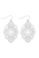 S22-11-2-MYE1279WS-FILIGREE DROP EARRINGS-SILVER/6PCS