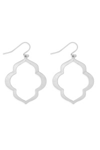 S21-12-4-MYE1284MS-MOROCCAN OPEN DROP EARRINGS-SILVER/6PAIRS