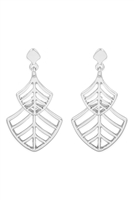 S22-11-2-MYE1285RH-LEAF FILIGREE DROP EARRINGS-SILVERS