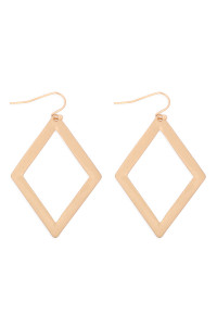 S21-12-4-MYE1287BG-RHOMBUS DROP EARRINGS-GOLD/6PAIRS