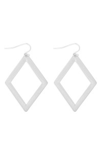 S21-12-4-MYE1287BS-RHOMBUS DROP EARRINGS-SILVER/6PAIRS