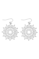S22-11-2-MYE1288WS-FILIGREE MANDALA DROP EARRINGS-SILVER/6PAIRS