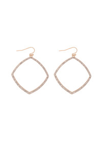 S21-12-4-MYE1290GD-ZIRCONIA POLYGON DROP EARRINGS-GOLD/6PAIRS