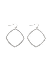 S21-12-4-MYE1290RH-ZIRCONIA POLYGON DROP EARRINGS-GOLD/6PAIRS