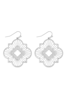 S22-11-2-MYE1292WS-MOROCCAN FILIGREE EARRINGS-SILVER/6PAIRS
