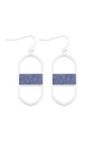 S18-3-4-MYE1376MSBL-OVAL DROP EARRINGS-MATTE SILVER BLUE/6PAIRS