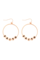S29-3-1-MYE1399MGFT-FAITH CHARM HOOP DROP EARRINGS-MATTE GOLD/6PAIRS