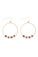 S29-3-1-MYE1399MGMA-CHARM HOOP DROP EARRINGS-MATTE GOLD/6PAIRS