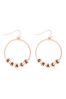 S29-3-1-MYE1399MGRC-GRACE CHARM HOOP DROP EARRINGS-MATTE GOLD/6PAIRS