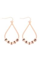 S29-3-1-MYE1400MGFT-FAITH CHARM TEARDROP EARRINGS-MATTE GOLD/6PAIRS