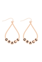 S29-2-1-MYE1400MGGRC-GRACE CHARM TEARDROP EARRINGS-MATTE GOLD/6PAIRS