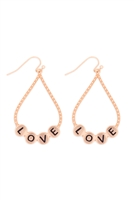 S29-3-1-MYE1400MGLO-LOVE CHARM TEARDROP EARRINGS-MATTE GOLD/6PAIRS