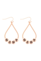 S29-2-1-MYE1400MGMA-CHARM TEARDROP EARRINGS-MATTE GOLD/6PAIRS