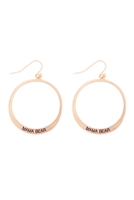 S29-2-1-MYE1412MGMA- PINCHED HOOP DROP EARRINGS-MATTE GOLD/6PAIRS