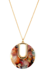 S1-2-1-LBN81312MU MULTI COLOR RESIN FASHION NECKLACE/3PCS