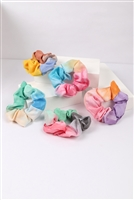S22-13-3-NHS1499- TIE DYE MULTICOLOR SCRUNCHY ASSORTED HAIR ACCESSORIES/12PCS