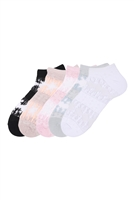 S19-8-1-NSH1160 - THIN GAUZINESS TWO TONE STRIPE ASSORTED SET SOCKS/12PCS