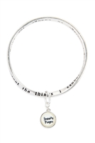 S22-10-5-OB08909AS - SERENITY PRAYER GLASS BUBBLE CHARM TWIST BRACELET/6PCS