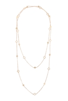 S23-13-5-ONA578GD- LONG  MORROCAN SHAPE STATION NECKLACE-GOLD/6PCS
