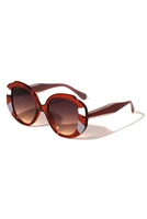 S17-3-5-P6562- BUTTERFLY DARK TINTED FASHION SUNGLASSES/12PCS