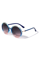 S17-1-5-P6608-CRYSTAL ROUND WHOLESALE SUNGLASSES/12PCS