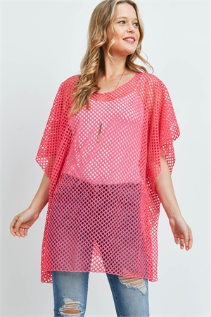 S19-10-2-PN439X001T2 - MESH SEE THROUGH TOP-RED/6PCS