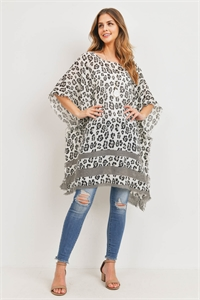S29-9-4-PN450X002- LEOPARD SEE THROUGH PONCHO/6PCS