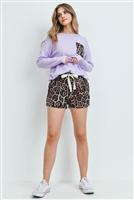S15-3-3-PPP4016-LVDBWN - ANIMAL TOP AND SHORTS SET WITH SELF TIE- LAVENDER/BROWN 1-2-2-2
