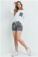 S15-6-2-PPP4016-OFWGY - ANIMAL TOP AND SHORTS SET WITH SELF TIE- OFF-WHITE/GREY 1-2-2-2