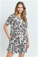 S14-7-2-PPP4019-OTMCMB-1 - LOW GAUGE LEOPARD TOP AND SHORTS SET WITH SELF TIE- OATMEAL COMBO 2-2-2
