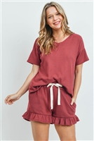 S10-17-3-PPP4054-RBCHB-1 -WAFFLE TOP AND SHORTS SET WITH SELF TIE-RUBYCHAMBRAY 2-2-2