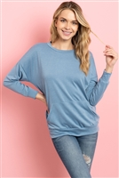 S10-10-3-PPT2063-DPS - LONG SLEEVE FRENCH TERRY TOP WITH KANGAROO POCKET TOP- DEEP SEA 1-2-2-2