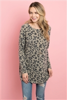 S12-4-3-PPT2084-OV - CASSIMER  LEOPARD LONG SLEEVE TOP- OLIVE 1-2-2-2