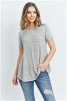 S8-14-3-PPT2152-TPSNHG-1 - RAGLAN SLEEVES LEOPARD SWING TOP- TAUPE/SIENNA/HEATHER GREY 2-2-2