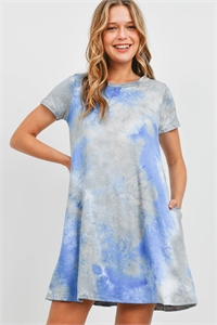 S9-18-3-RFD1061SS-RTD020-SB-1 - TIE DYE POCKET SWING DRESS- SILVER BLUE 4-3