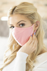 S3-4-1-RFM6001-CT-DPK DUSTY PINK PLAIN REUSABLE FACE MASK FOR ADULT/12PCS